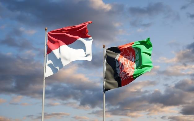 アフガニスタンとモナコの美しい国の旗