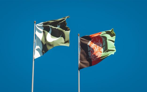 アフガニスタンとパキスタンの美しい国の旗