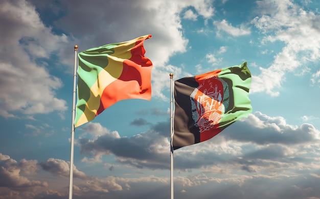 アフガニスタンとコンゴ共和国の美しい国の旗