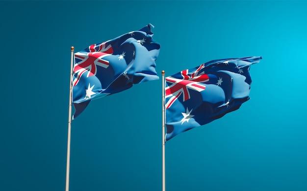 一緒にオーストラリアとオーストラリアの美しい国の旗