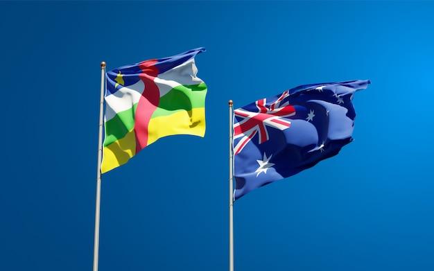 オーストラリアと中央アフリカ共和国の美しい国の旗を一緒に