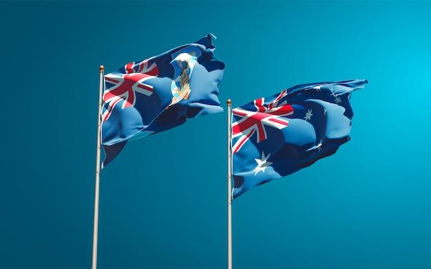 フォークランド諸島とオーストラリアの美しい国の旗を一緒に