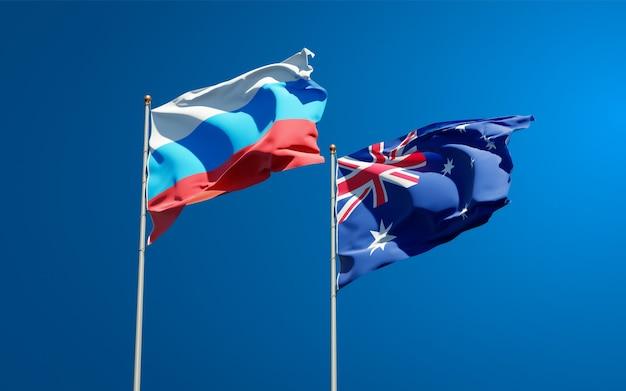 함께 새로운 러시아와 호주의 아름다운 국기