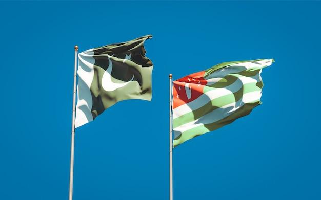 パキスタンとアブハジアの美しい国の旗を一緒に