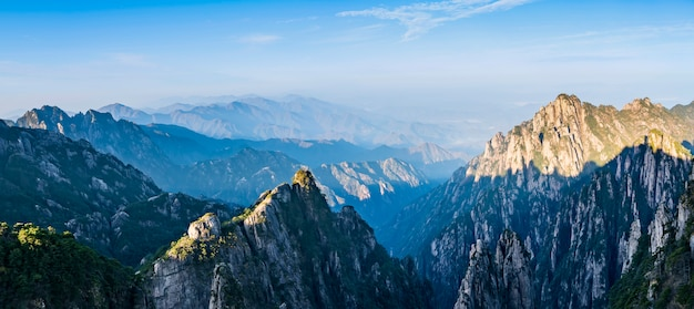 The beautiful natural landscape of huangshan mountain in china