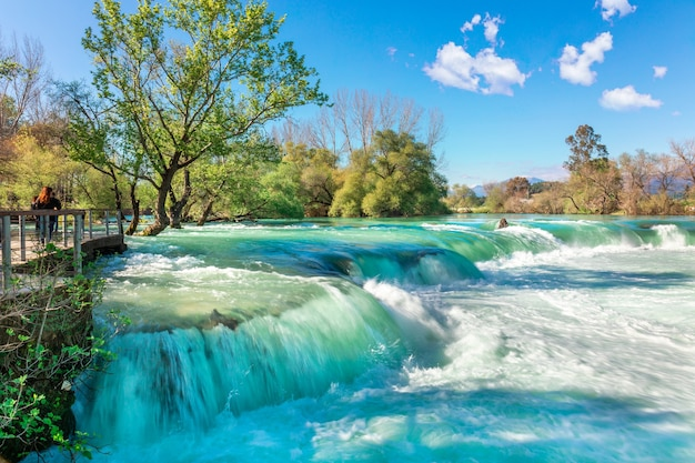 Beautiful natural landscape of manavgat waterfall in national park