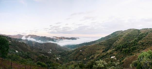 아름다운 자연 경관 산과 일몰 오후 환경 유럽 녹색
