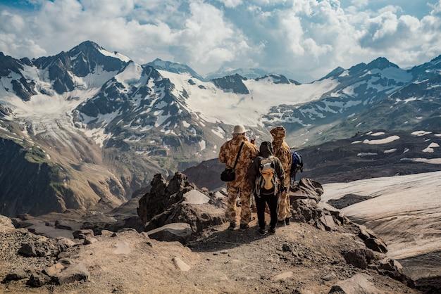 Beautiful natural landscape of mountains, caucasus mountains, russia, elbrus