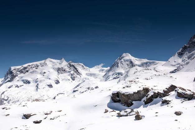 Beautiful natural landscape scenery view of mountains swiss alps at zermatt, switzerland.