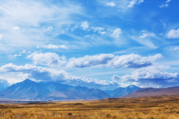 ニュージーランド、サウスアイランドのマウントクック国立公園の美しい自然の風景