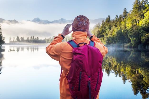 아름다운 자연 풍경-호수 matheson, 남섬, 뉴질랜드의 마운트 쿡 반사