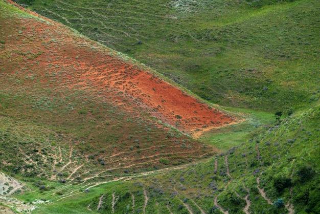 山の美しい自然のパターン