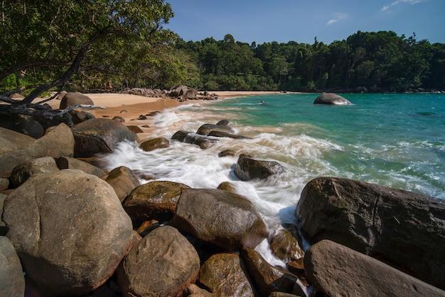 Beautiful natural summer seascape at khao lak