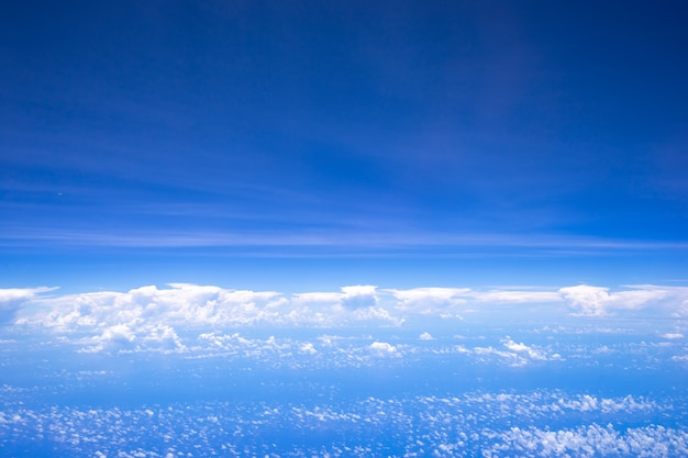 Beautiful nature background of sky and clouds.