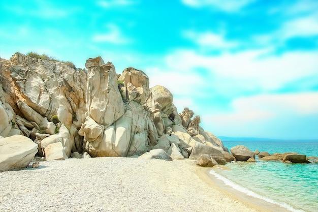 Красивая природа у моря на природе на фоне парка