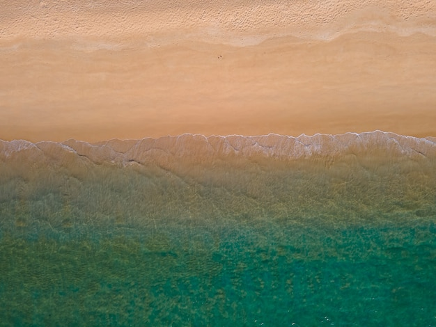 Beautiful nature image beautiful sea and beach from above