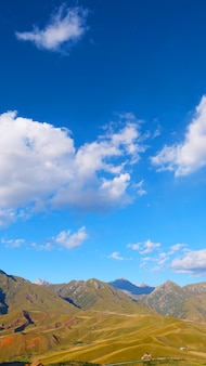 Beautiful nature landscape veiw of the qilian mountain scenic area mount drow in qinghai china.