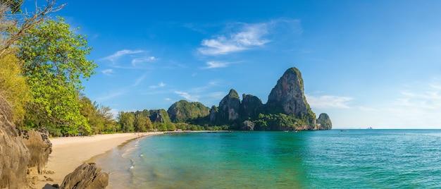 Beautiful nature at railay beach, krabi, thailand