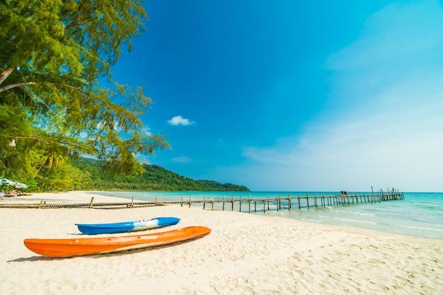 Beautiful nature tropical beach and sea