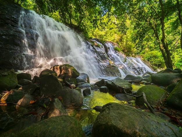 Beautiful nature waterfall
