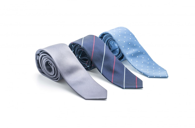 Beautiful necktie on white