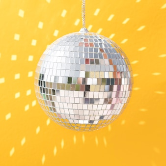 Beautiful new year concept with disco ball
