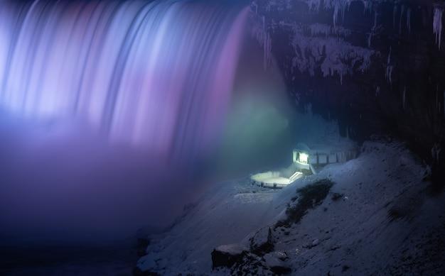 Красивые водопады ниагара ночью