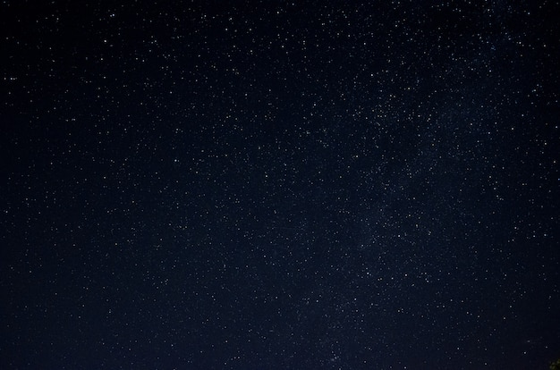 Beautiful night sky full of stars. part of the milky way in the sky.