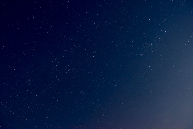 Beautiful night sky with shiny stars