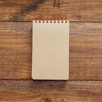 Beautiful notebook on a vintage background