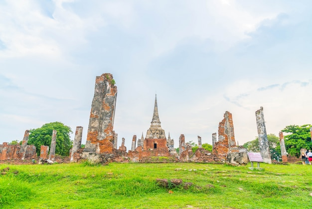 Beautiful old architecture historic of ayutthaya in thailand