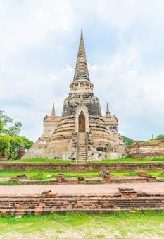 Красивая старая архитектура, история аюттхая в таиланде