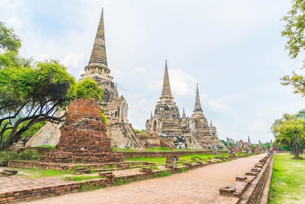 태국에서 아유타야의 역사적인 아름다운 오래된 건축물