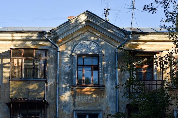 Красивый старый дом. сталинская архитектура