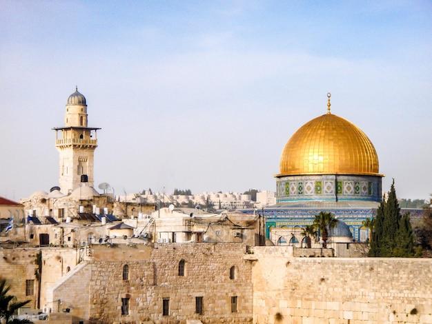 Красивый старый иерусалим, стена слез, израиль.