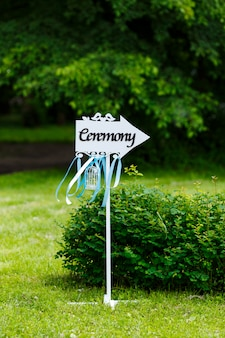 Beautiful outdoor wedding ceremony at the park