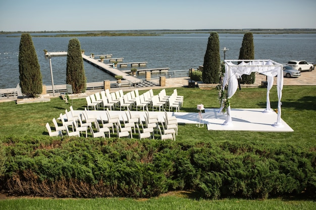 Beautiful outgoing wedding set up