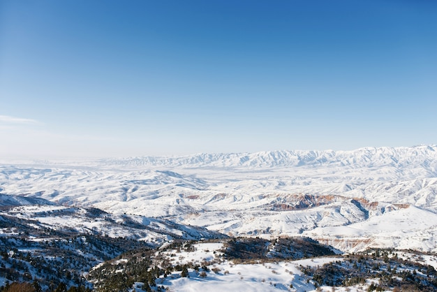 山と空の美しいパノラマ