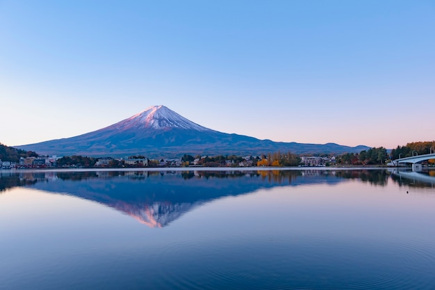 Beautiful panorama view of mt fuji