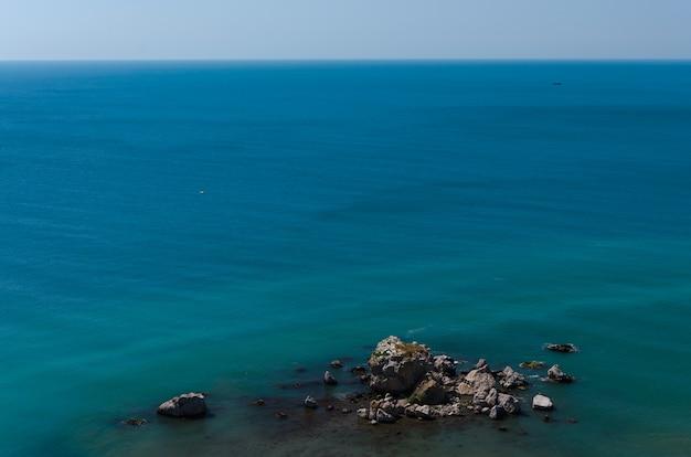 Beautiful panoramic natural view of the sea.