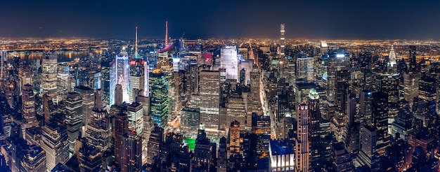 Beautiful panoramic shot of new york city