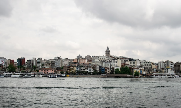 Beautiful panoramic view of the old district of istanbul