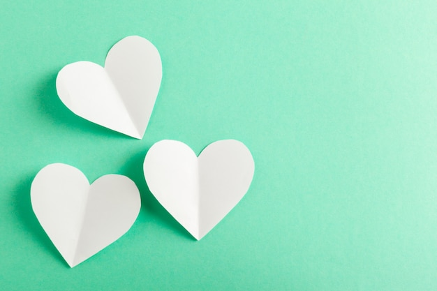 Beautiful paper hearts background