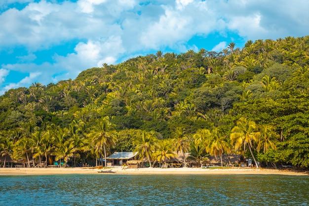 Beautiful paradisiacal beaches in punta de sal in the caribbean sea, tela. honduras