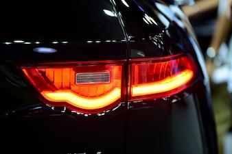 Beautiful parts of the new car. Car headlights, headlights, body lights