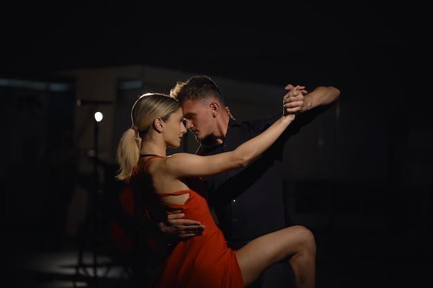 Beautiful passionate dancers dancing