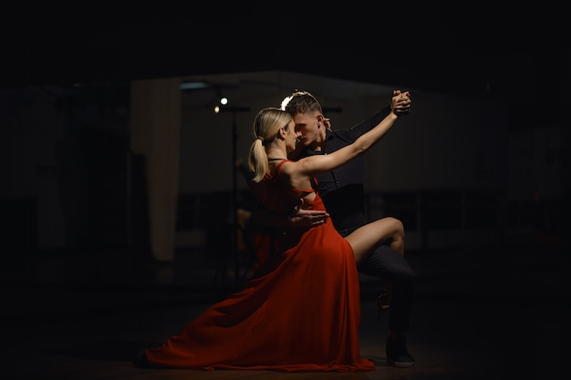 Beautiful passionate dancers dancing