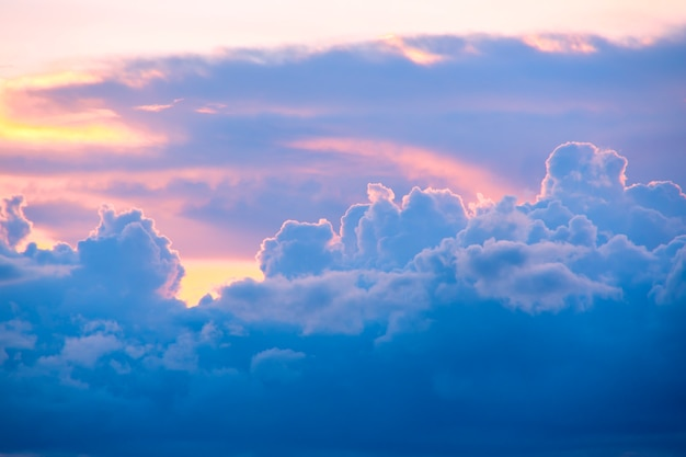 Beautiful pastel cloud and sky