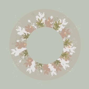 オリーブの背景に美しいパステルカラーの花の装飾。結婚式の招待状、母の日の挨拶のコンセプトのカードモックアップ。テキスト、画像、広告のコピースペース。トレンディな色、インスピレーション、お祝い。