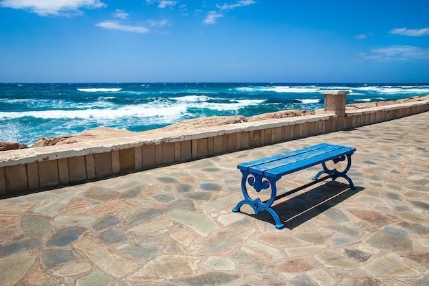 自然を背景に海の美しい小道
